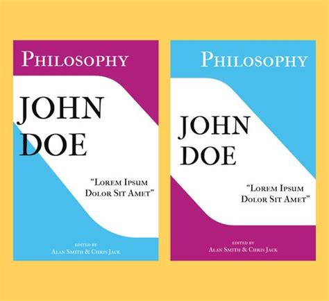 Philosophy book cover template - Download Free Vectors