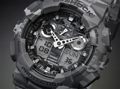"""Casio G-Shock GA-100CM Watch - """"Camouflage Plated Dial"""