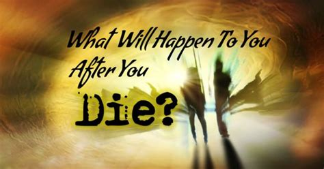 What Will Happen To You After You Die?