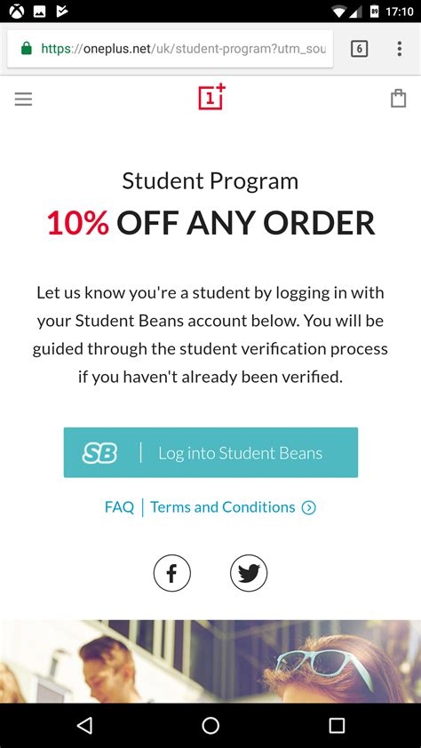 Student Program - save 10% off any order (Max 1 phone