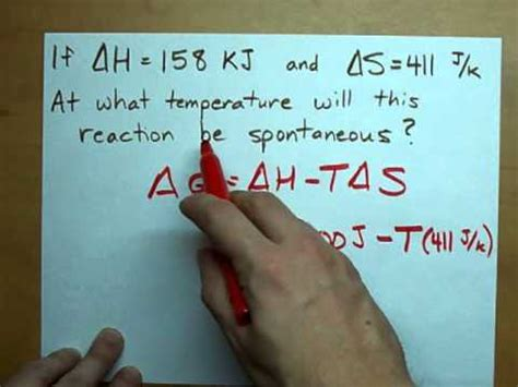 Is it a Spontaneous Reaction? Delta G tells you! - YouTube
