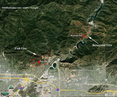 """Wildfire Today on Twitter: """"Map showing location #"""