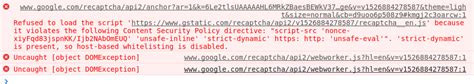 content security policy - Google reCAPTCHA v2 Refused to
