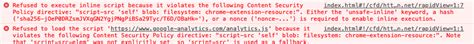 javascript - Refused to execute inline script because it
