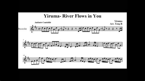 Yiruma's River Flows in You on Soprano Recorder - YouTube