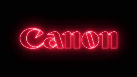 Canon Logo with Neon Lights