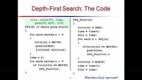 Depth First Search The Code - YouTube