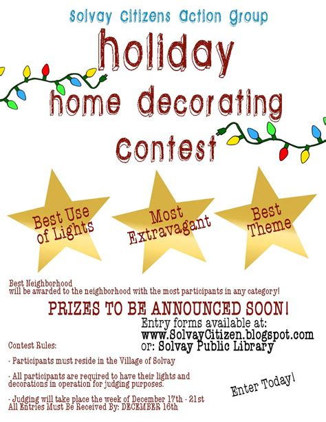 Cubicle Holiday Decorating Contest Rules