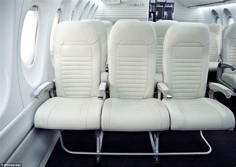 New Bombardier CS100 aircraft has wider chairs designed