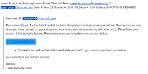Hot New Email Scam – ReadyTechGo